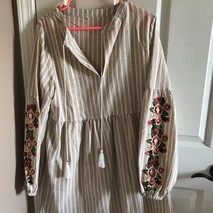 Dress 3/4 sleeve mid thigh length